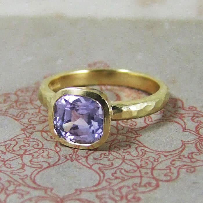 Lilac Sapphire Engagement Ring