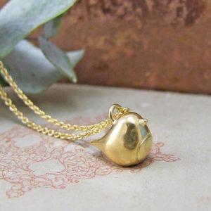 Vintage Robin Gold Vermeil