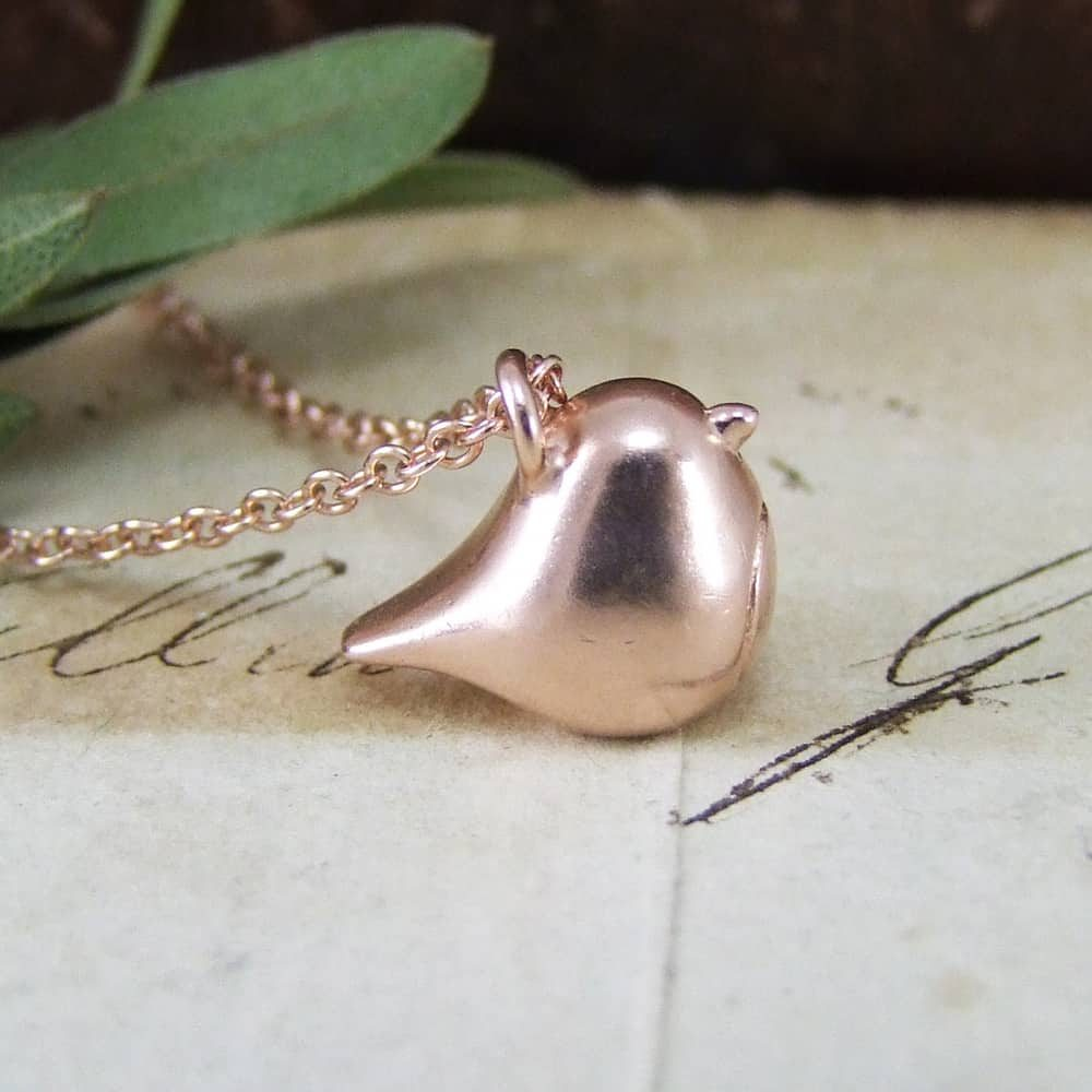 Cute Christmas Rose Gold Robin
