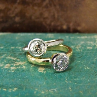 Old Mine Cut Engagement Rings