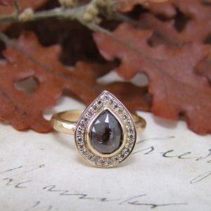 Chocolate Diamond & Rose Gold Engagement Ring