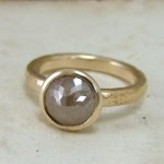 Cinnamon Rose Cut Diamond & Rose Gold Unusual Engagement Ring