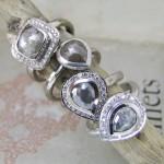 Grey Rose Cut Diamonds