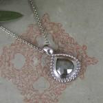 Grey Diamond Palladium India Pendant
