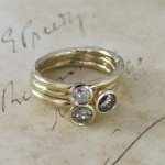 Unusual Diamond & Gold Stacking Rings