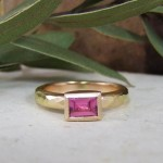 Pink Sapphire & Rose Gold Ring