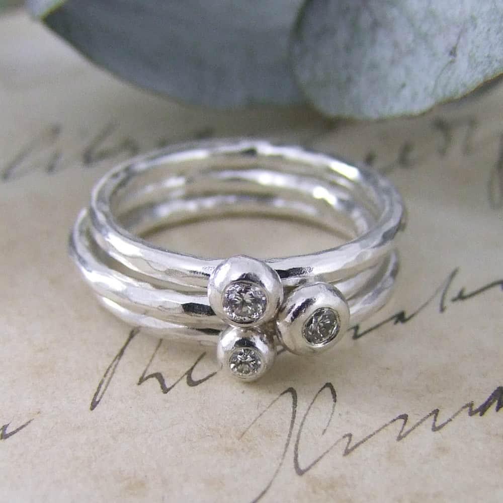 Bespoke Diamond & Silver Staking Rings