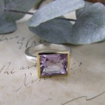 Amethyst Silver & Yellow Gold Ring