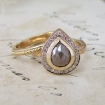 Rose Cut Diamond And Rose Gold Wedding And Engagement Rings