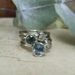 Handmade Sapphire & Diamond Stacking Rings