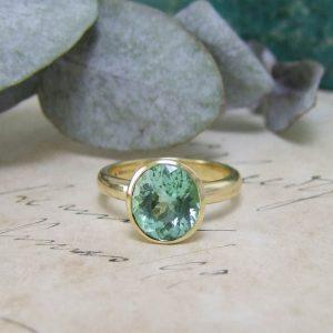 Paraiba Ring Gold
