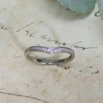 Diamond Pave Set Wishbone Wedding Ring