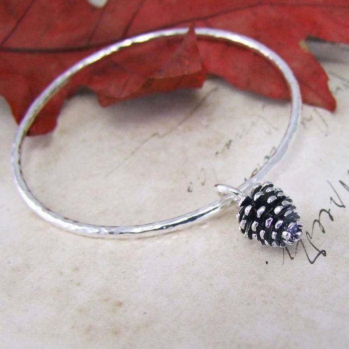 Winter Moon Pine Cone Bangle