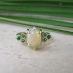 Bespoke Opal & Emerald Ring