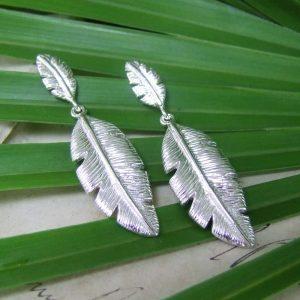 Palm Leaf Double Earrings