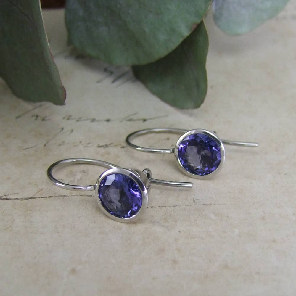 Bespoke Tanzanite Drop Earrings