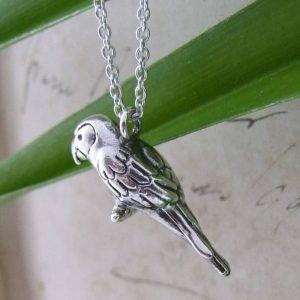 Long tail parrot pendant