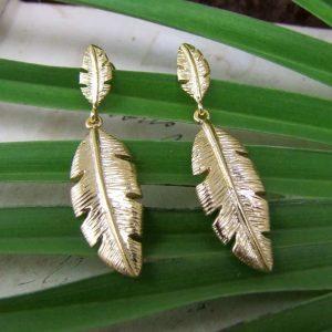 Palm-Leaf-Gold-Earrings