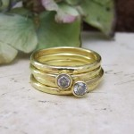 Oval Section Stacking Style Wedding Bands