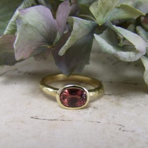Orange Brown Sapphire Ring