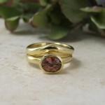 Orange Sapphire Wedding & Engagement Ring