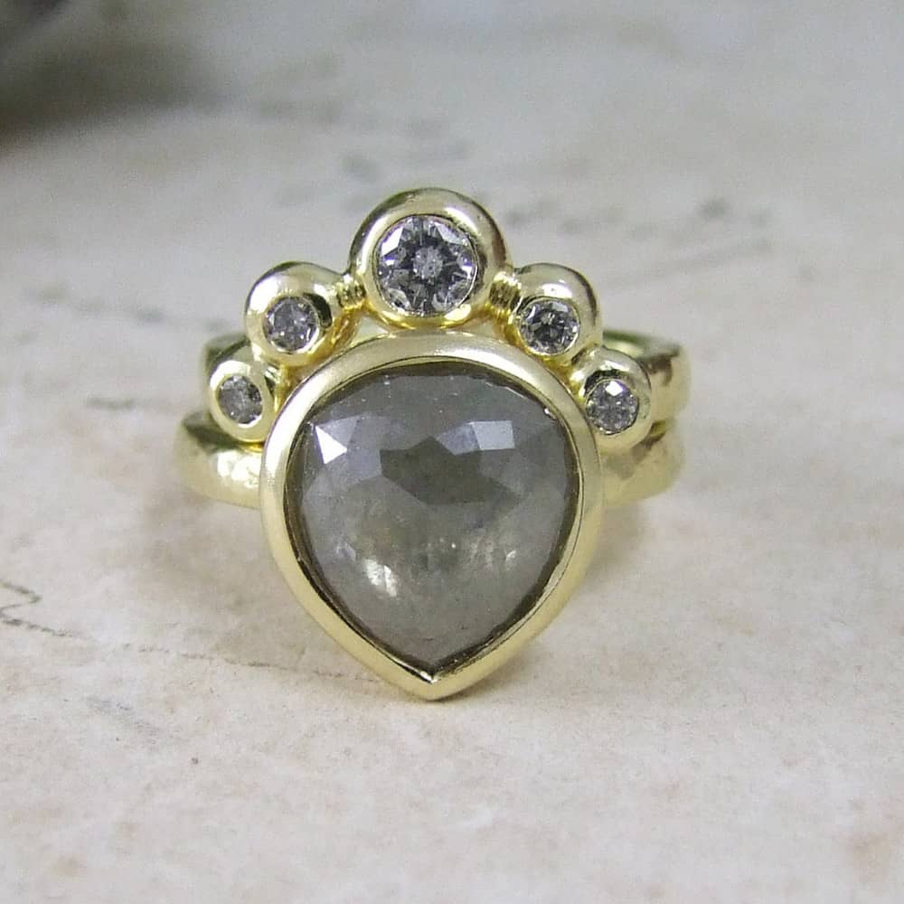 Sacred Heart Diamond Engagement Ring