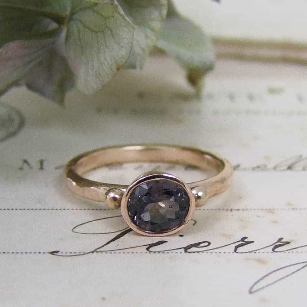Colour Change Sapphire Ring