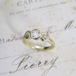 Old Mine Cut Diamond Handmade Ring