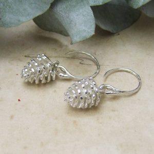 silver pine cone drops