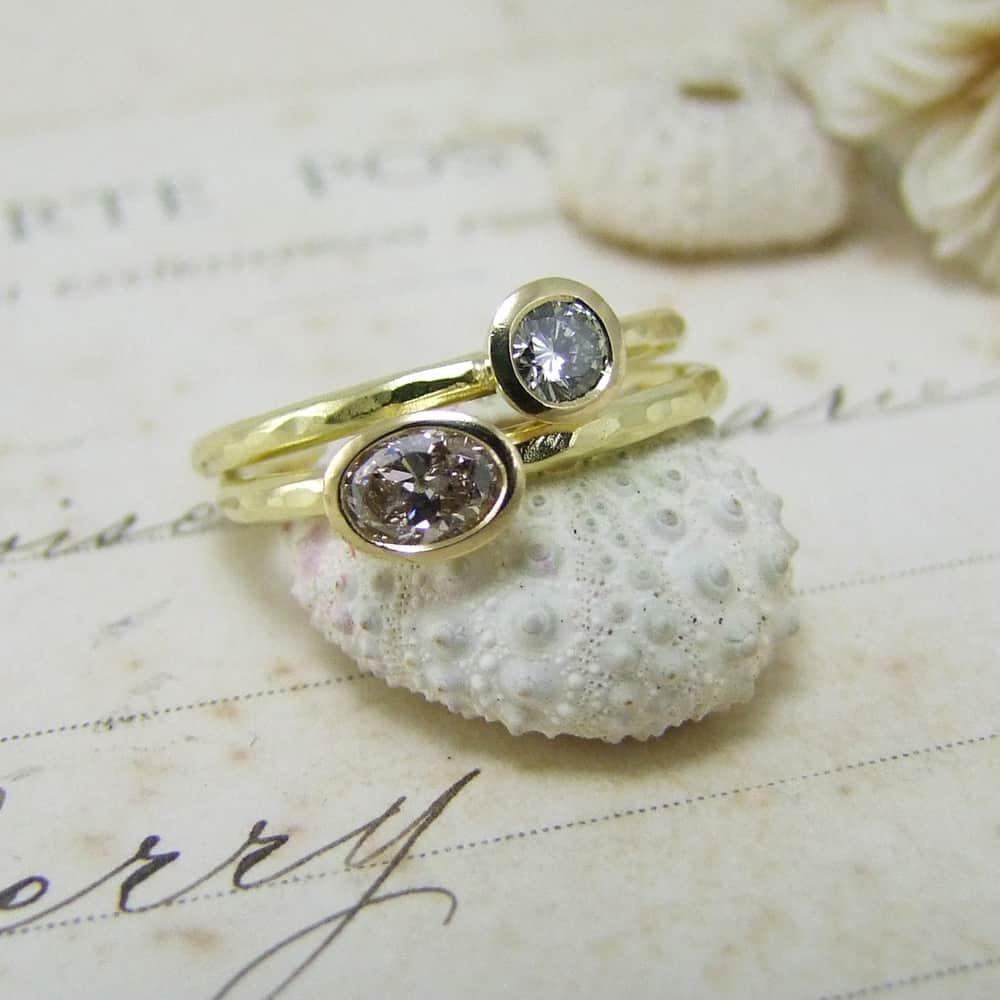 Bespoke Diamond Stacking Rings