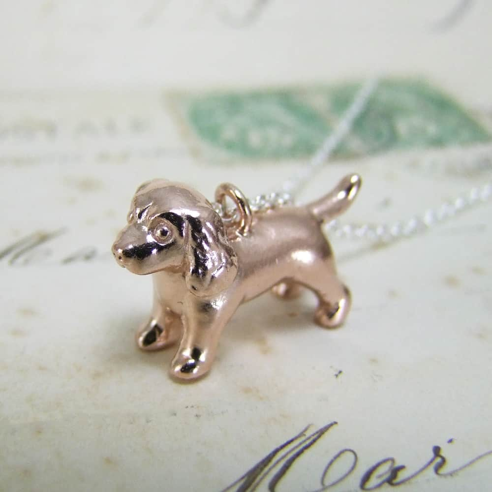 Spaniel Pendant Rose Gold