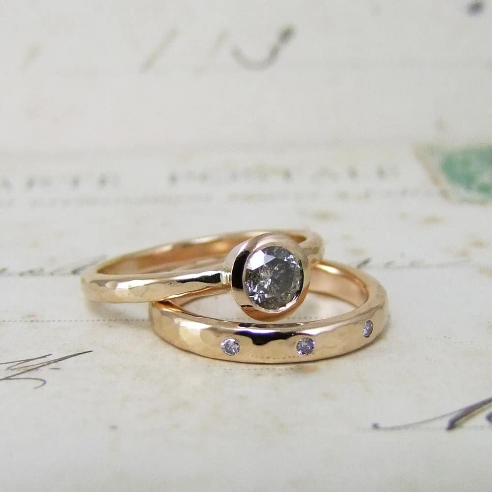 Fair Trade Rose Gold Commitment Rings