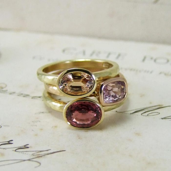 Peach, Pink And Orange Sapphires