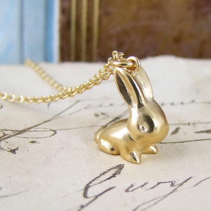 Vintage bunny pendant alexis dove jewellery vintage bunny pendant aloadofball Choice Image