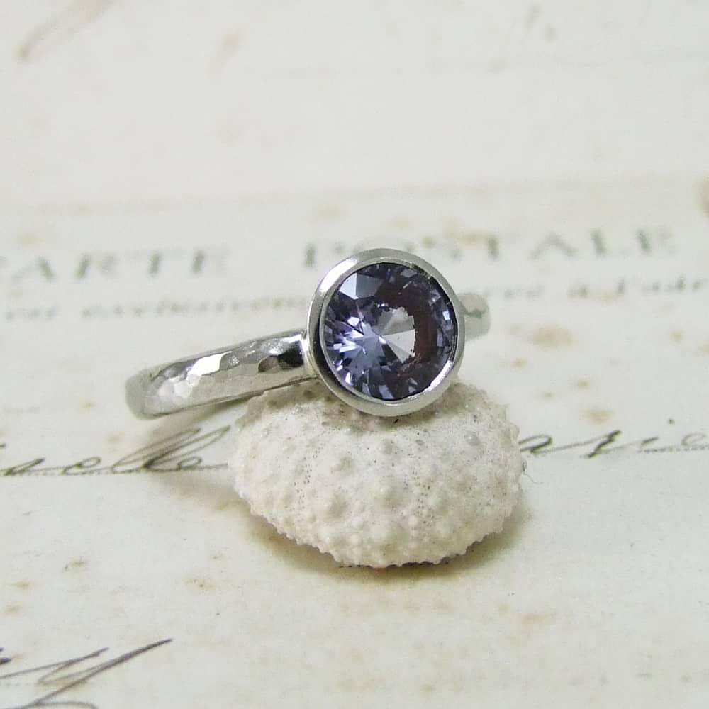 blue sapphire platinum ring dove jewellery