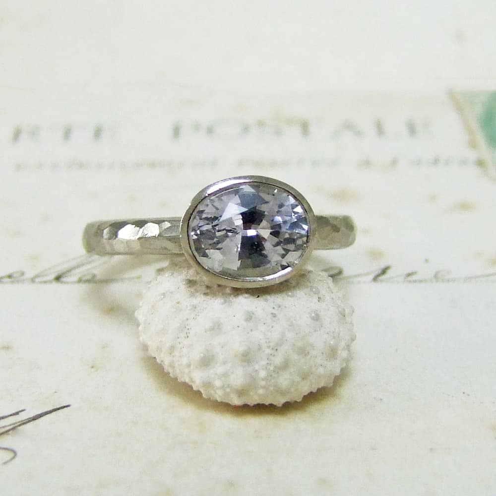 Grey Sapphire Engagement Ring