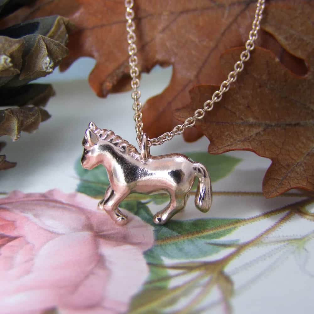 Pony Pendant Rose Gold