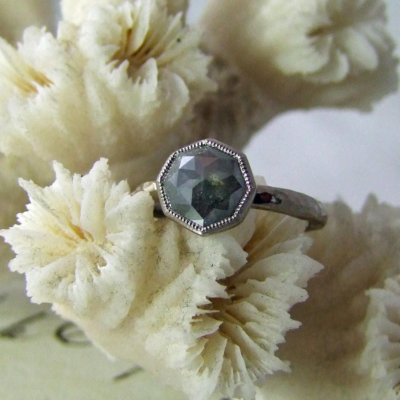 Octagon rose cut diamond