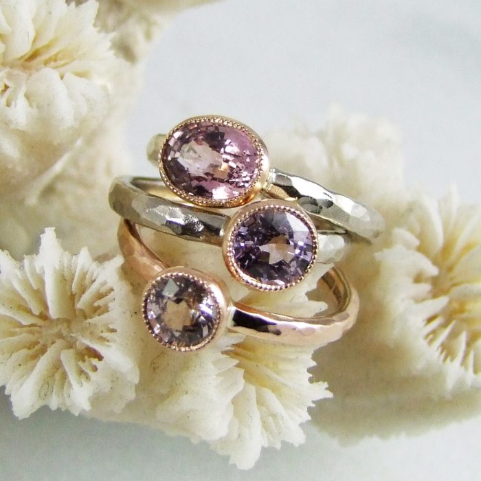 Millegrain Handmade Sapphire Rings