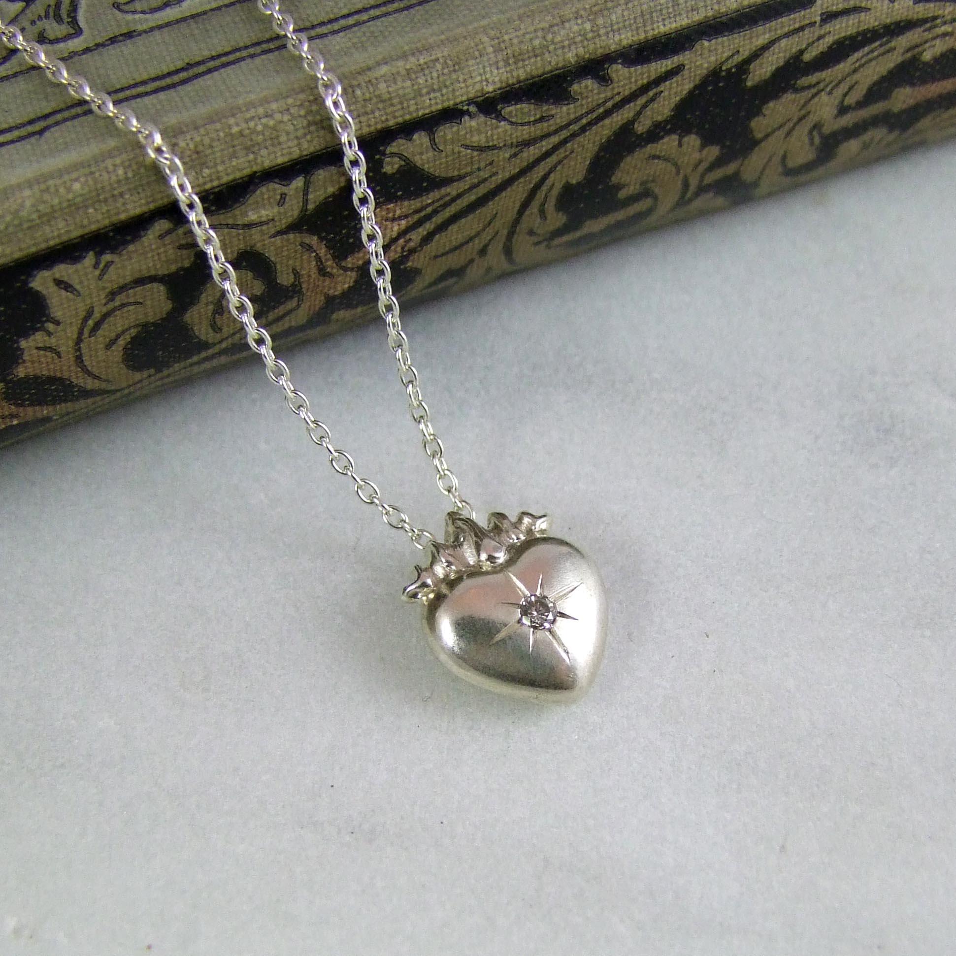 Diamond sacred heart pendant alexis dove jewellery diamond sacred heart pendant aloadofball Images