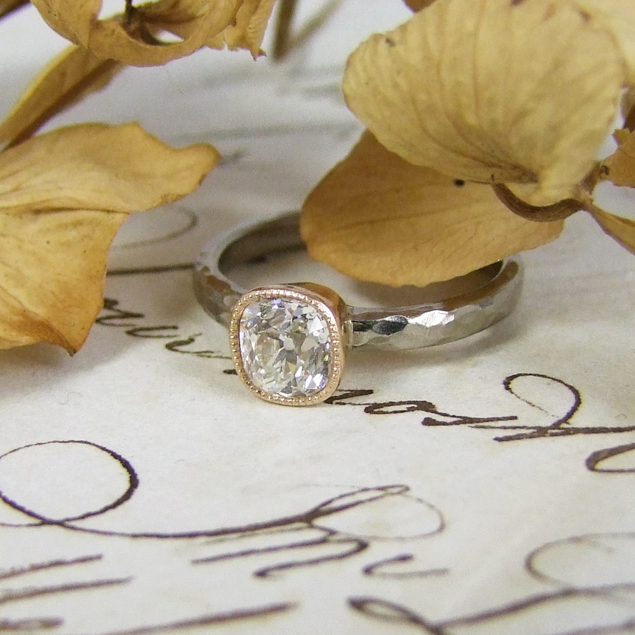 Cushion Old Mine Cut Engagement Ring Alexis Dove Jewellery