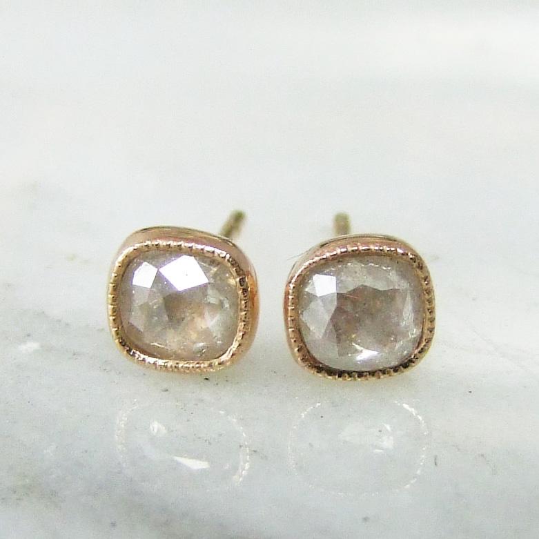 518d01057c78 Cushion Rose Cut Diamond Stud Earrings - Alexis Dove Jewellery