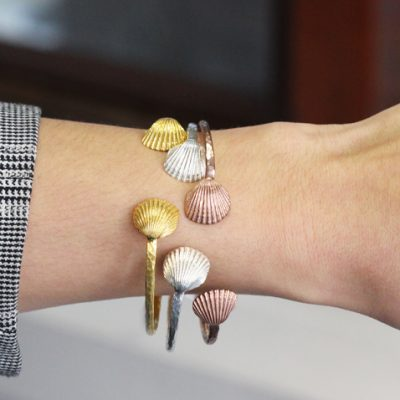 Alexis Dove, Sea shell jewellery, Clamshell cuff