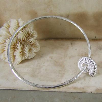 Alexis Dove, Sea shell jewellery, ammonite bangle