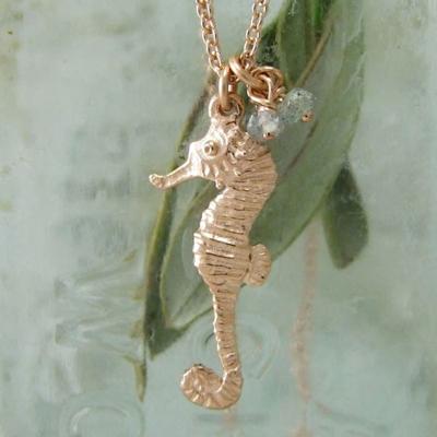 Alexis Dove, Sea shell jewellery, sea horse pendant