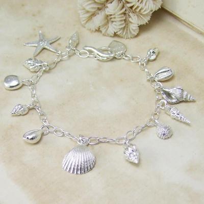 Alexis Dove, Sea shell jewellery, shell charm bracelet