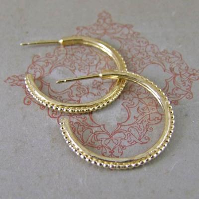 Alexis Dove, Sea shell jewellery, urchin hoop earrings