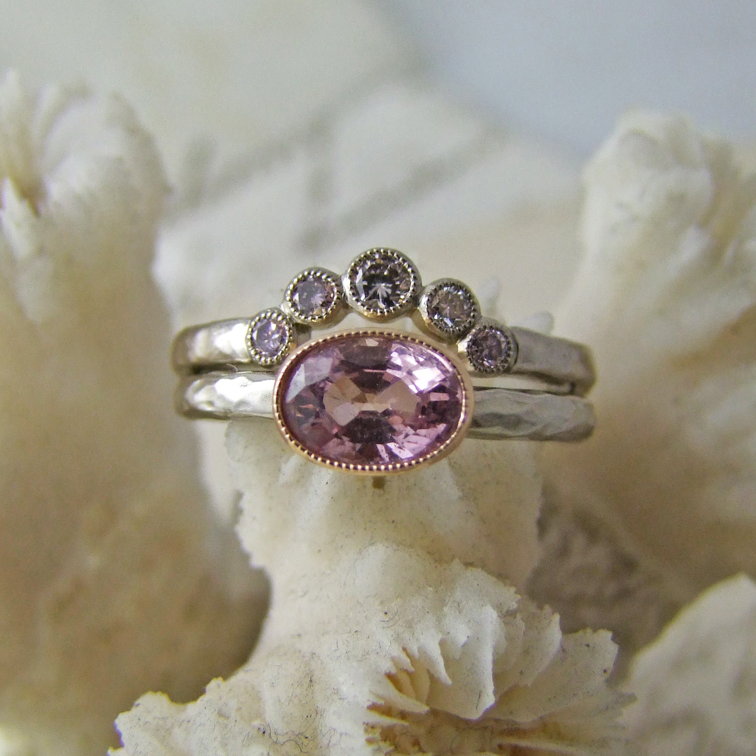 Pink Diamond Tiara Ring Alexis Dove Jewellery