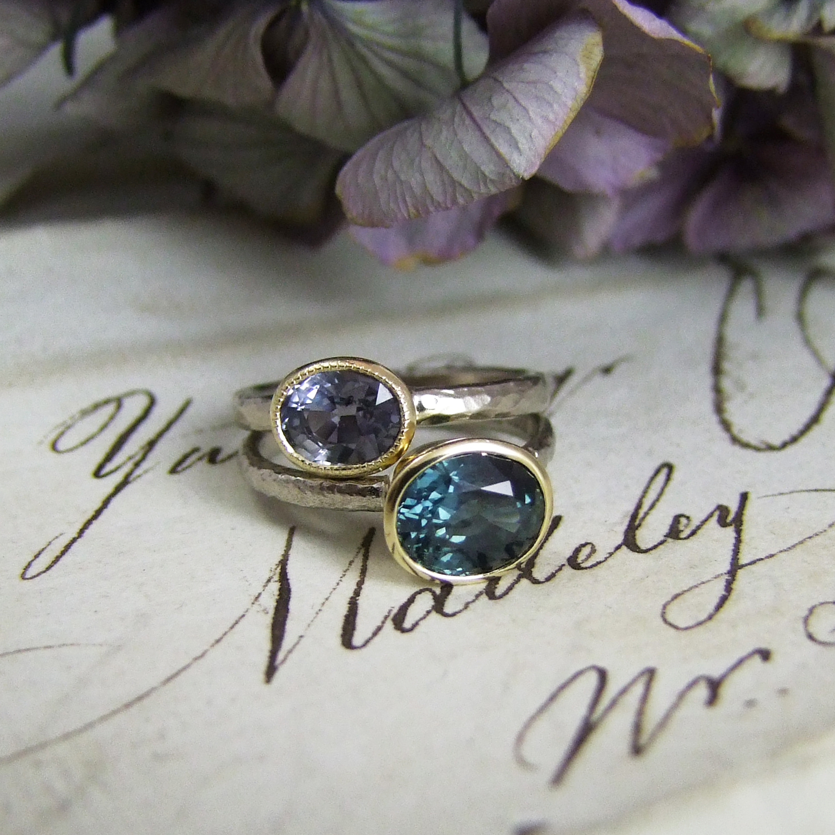 Teal Sapphire Ring Alexis Dove Jewellery