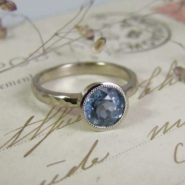 Malawi Sapphire Engagement Ring